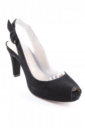 Unisa Slingback Pumps black-cream casual look