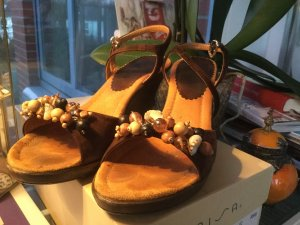 Unisa Wedge Sandals dark brown