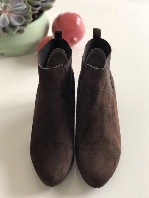 Unisa Slip-on Booties dark brown-brown