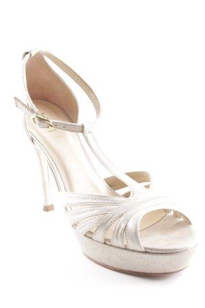 Unisa Zapatos de tacón con barra en T beige claro elegante