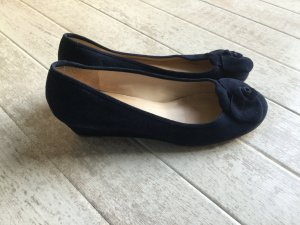 Unisa Wedge Pumps dark blue leather