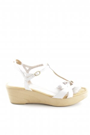 Unisa Wedge Sandals white-beige elegant