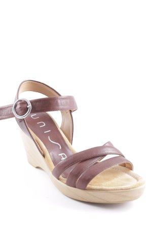 Unisa Wedge Sandals cognac-coloured-beige casual look
