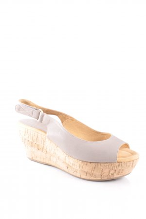 Unisa Wedges Sandaletten hellgrau Beach-Look