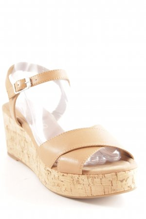 Unisa Wedges Sandaletten nude-beige Casual-Look