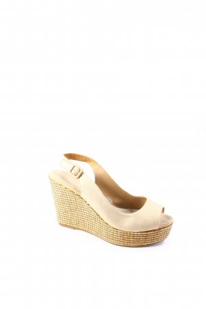 Unisa Wedge Sandals nude elegant