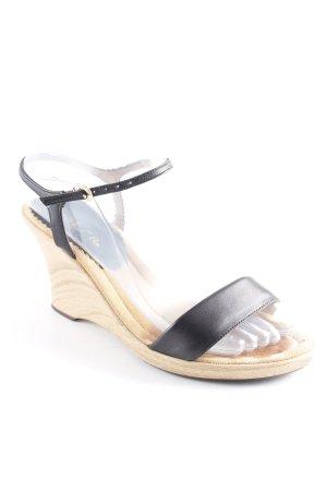 Unisa Wedges Sandaletten schwarz-beige Elegant