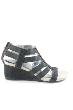 Unisa Wedges Sandaletten schwarz schlichter Stil