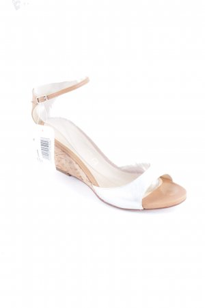 Unisa Wedge Sandals silver-colored-light brown classic style