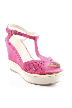 Unisa Wedges Sandaletten violett-goldfarben Urban-Look