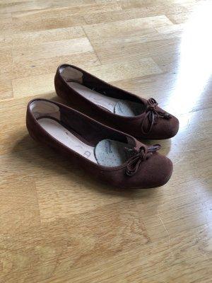 Unisa Ballerinas with Toecap brown