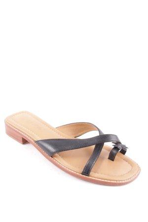 Unisa Zehentrenner-Sandalen schwarz-hellbraun klassischer Stil