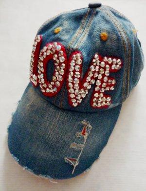 Unisex Jeans LOVE Snapback Baseball Cap Skater Mütze Hut Kappe Schirmmütze