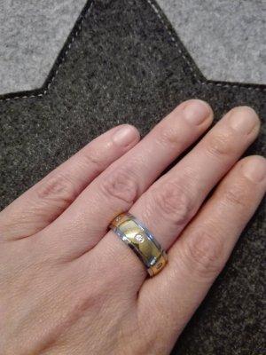 Anillo color plata-color oro acero inoxidable