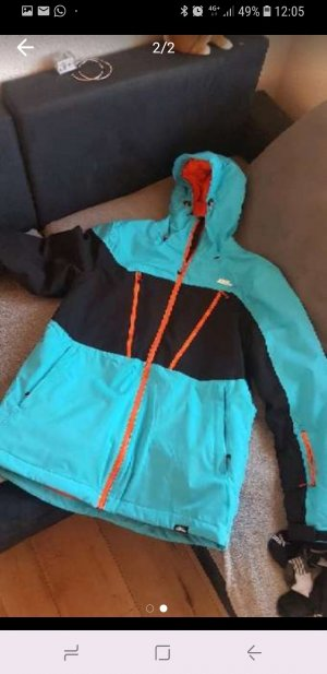 Veste oversize orange-bleu clair
