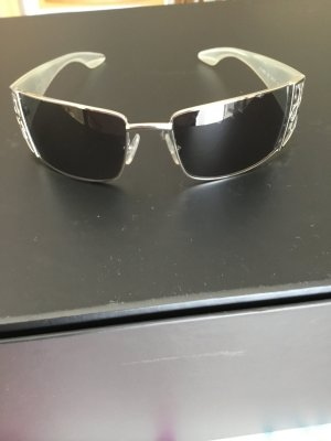 Calvin Klein Angular Shaped Sunglasses silver-colored