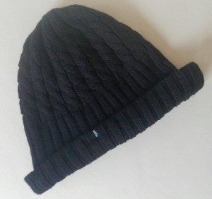 Wesc Sombrero de punto negro Lana
