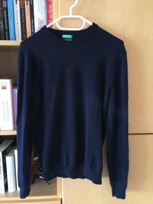 Benetton Kasjmier trui donkerblauw