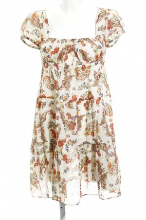 United Colors of Benetton A Line Dress flower pattern romantic style