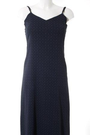 United Colors of Benetton A-Linien Kleid dunkelblau-himmelblau florales Muster