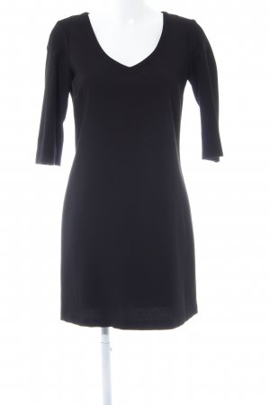 United Colors of Benetton A-Linien Kleid schwarz Webmuster Casual-Look