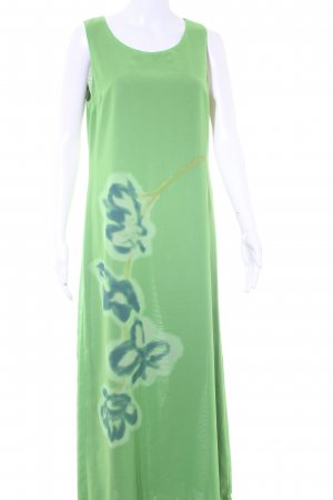 United Colors of Benetton Abendkleid wiesengrün-waldgrün florales Muster