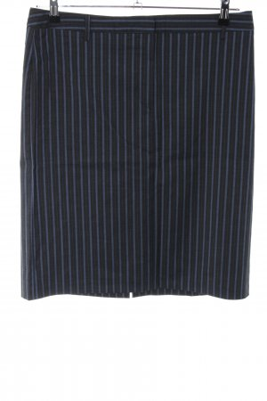 United Colors of Benetton Pencil Skirt blue-black striped pattern casual look