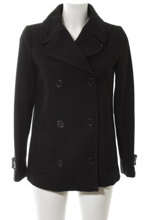 United Colors of Benetton Pea Jacket black elegant