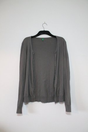 United Colors Of Benetton Cardigan / Feinstrickjacke in grau