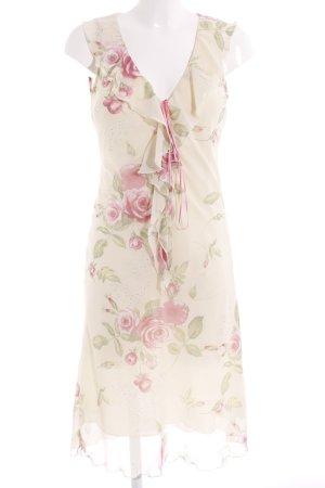United Colors of Benetton Vestido de chifón estampado floral estilo romántico