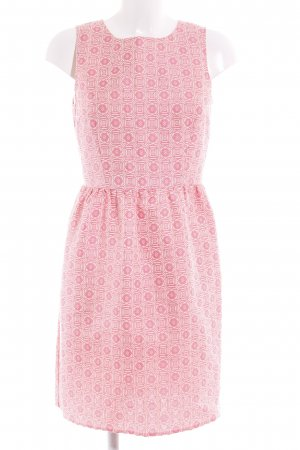 United Colors of Benetton Etuikleid pink-creme abstraktes Muster Party-Look