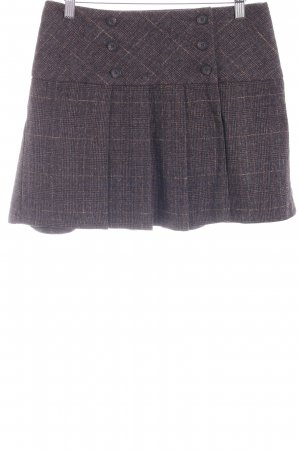 United Colors of Benetton Plaid Skirt black brown-brown glen check pattern