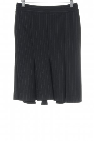 United Colors of Benetton Godet Skirt black pinstripe business style