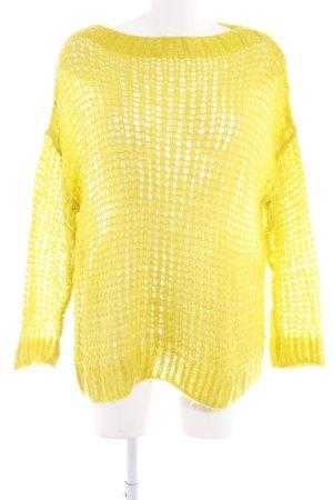 United Colors of Benetton Pullover all'uncinetto giallo neon stile casual
