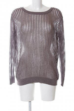 United Colors of Benetton Crochet Top brown striped pattern casual look