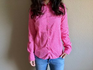 United Colors of Benetton Hemd/Bluse, Pink/Weiß, Gr. XS