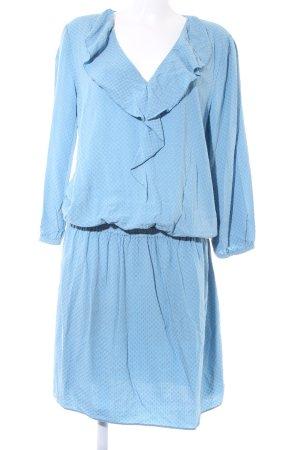 United Colors of Benetton Robe chemise bleu azur style classique
