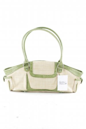 United Colors of Benetton Carry Bag cream-lime-green animal pattern animal print