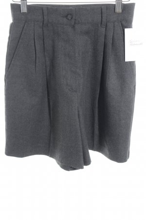 United Colors of Benetton High-Waist-Shorts grau meliert klassischer Stil