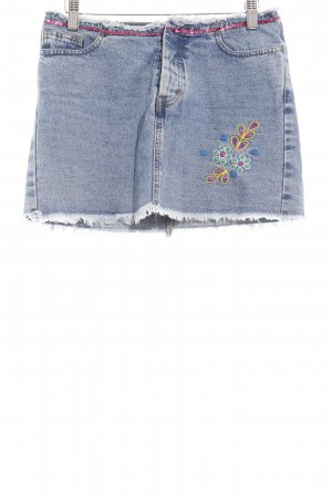 United Colors of Benetton Jeansrock mehrfarbig Washed-Optik