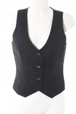 United Colors of Benetton Denim Vest black business style