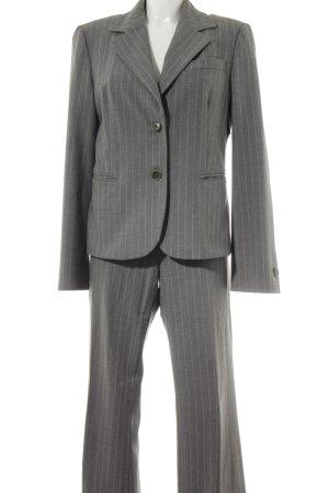 United Colors of Benetton Kostüm grau-weiß Nadelstreifen Business-Look