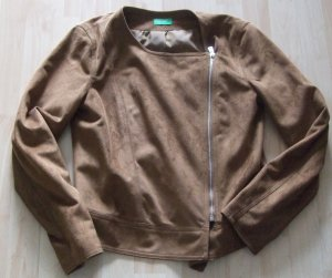 UNITED COLORS OF BENETTON Kunstleder Jacke Gr:  38