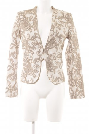 United Colors of Benetton Blazer corto beige-crema motivo floreale