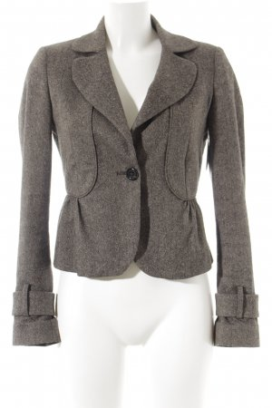 United Colors of Benetton Kurz-Blazer dunkelbraun meliert klassischer Stil
