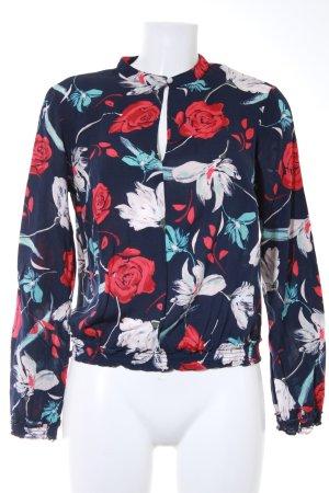 United Colors of Benetton Langarm-Bluse Blumenmuster Romantik-Look