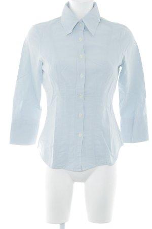 United Colors of Benetton Chemise à manches longues bleu azur style simple