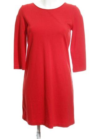 United Colors of Benetton Langarmkleid rot-silberfarben klassischer Stil