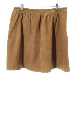 United Colors of Benetton Falda de cuero marrón look casual
