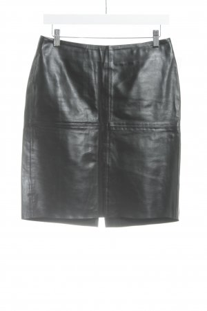 United Colors of Benetton Leather Skirt black street-fashion look